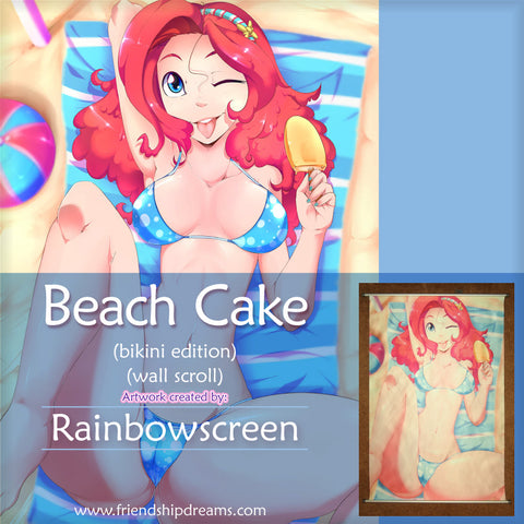 Beach Cake Wall Scroll by Rainbowscreen