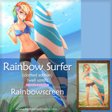 Rainbow Surfer Wall Scroll by Rainbowscreen
