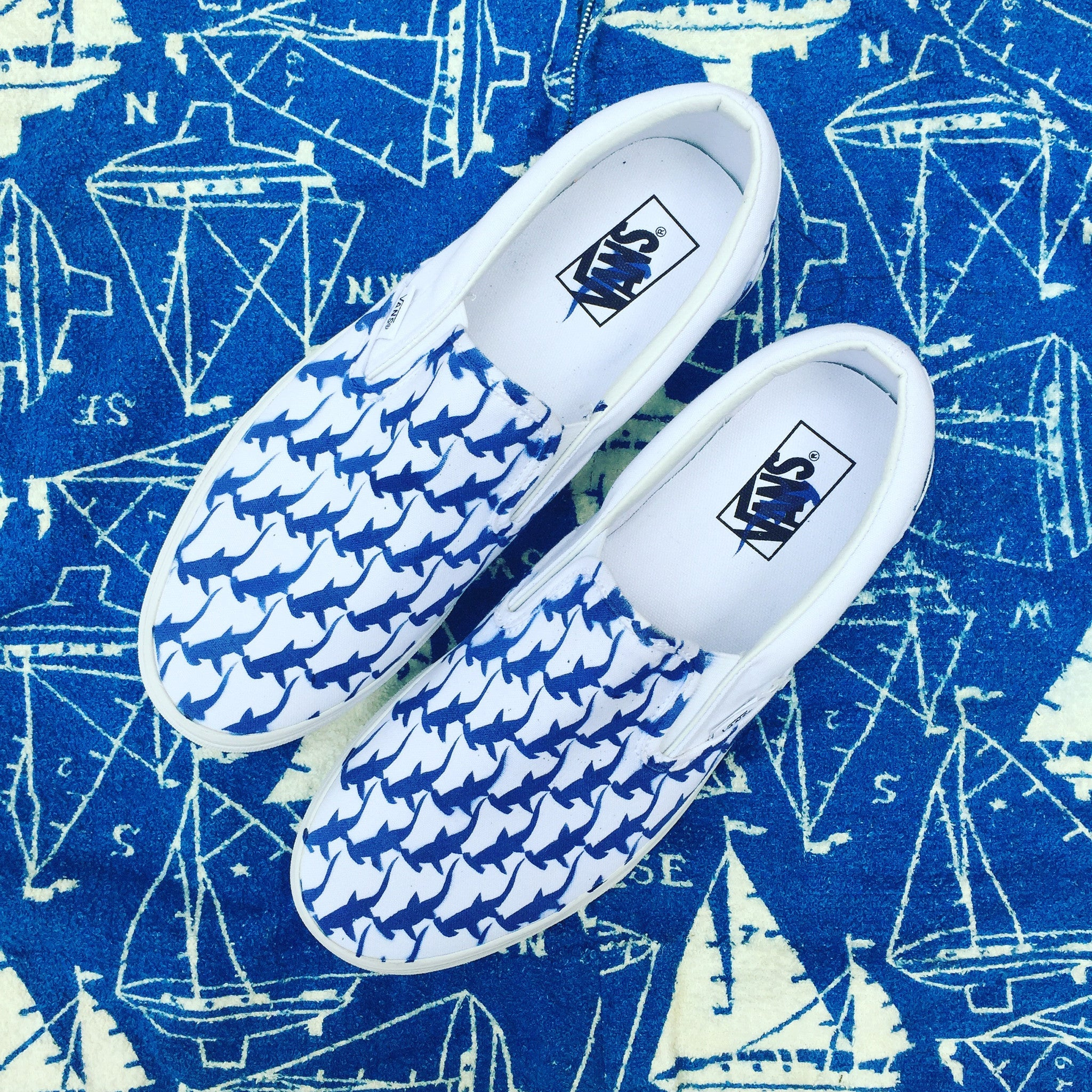 clamdiggin L.A. nautical blue slip-on (men/women)