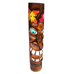 Carved Wood Primative Painted Tiki Head