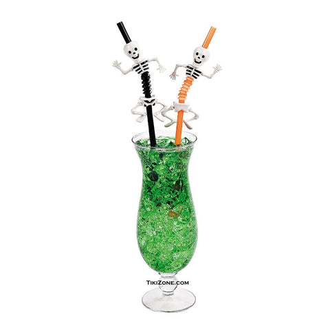 Zombie Skeleton Halloween Bendy Straws