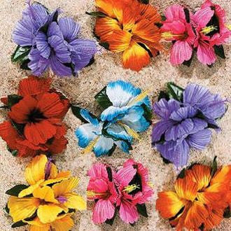 Hula Girl Flower Lei Hair clip (12 pack)