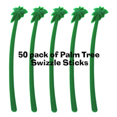 Tropical Palm Tree Swizzle Sticks/Drink Stirs