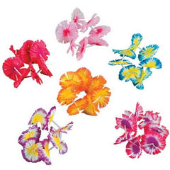 12 Pair - Hawaiian Flower Lei Bracelets