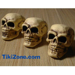 Mini Pirate Skeleton Skulls - (3 voodoo skulls)