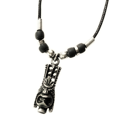 Pewter Long Life Tiki Necklace