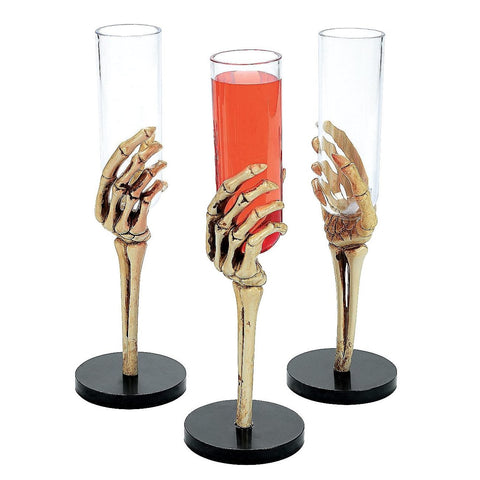 12 Skeleton Hand Shot Glass - Pirate Party Time!