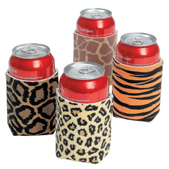 Animal/Leopard Print Safari Can Koozies
