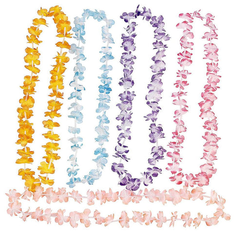 Multi Colored Luau Leis (12 assorted colors)