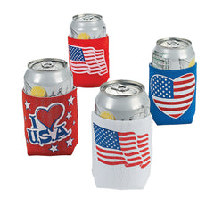 American Flag Patriotic Bottle/Can Koozies