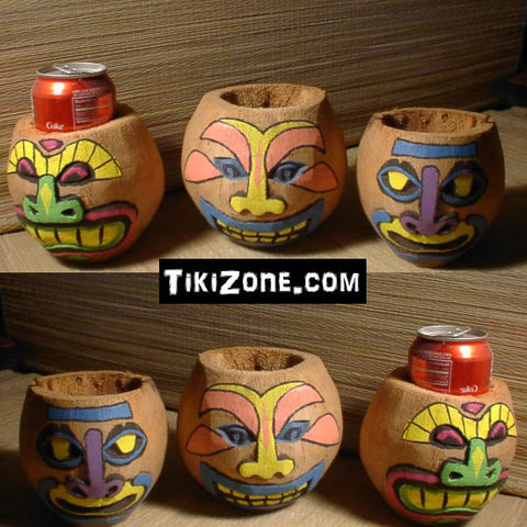 6 Pack of Tiki Coconut Can holders