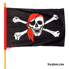 Huge Pirate Flag with Skull and Crossbones!!