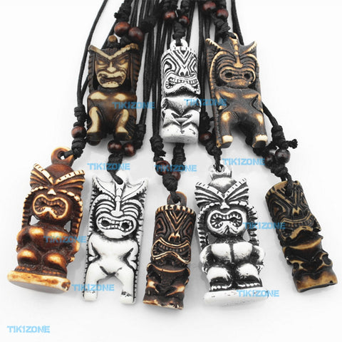 8 Pack of Assorted Tiki Pendant Necklaces