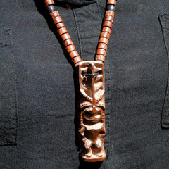 3.5 Inch Tiki Idol Pendant Necklace