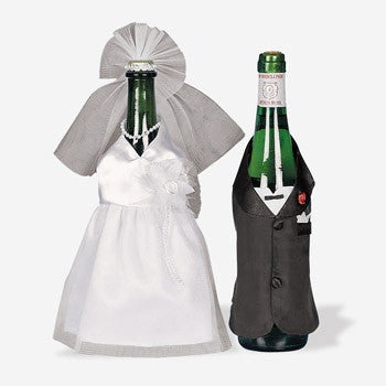 Bride & Groom Wedding Wine Bottle Cover