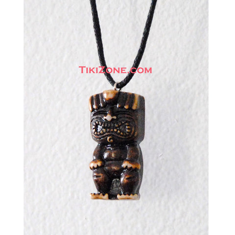 Happy Tiki Man Hawaiian Luau Necklace