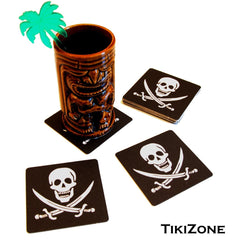 20 Jolly Roger/Pirate Flag Drink Coasters
