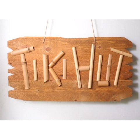 Bamboo Tiki Hut Bar Sign - Surf Shack
