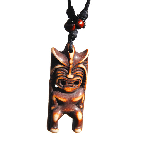 Hawaiian Tribal Squinting Tiki Necklace