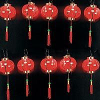 String Of Chinese Patio Lanterns