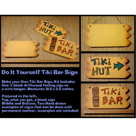 Make Your Own Custom Driftwood Tiki Bar Sign
