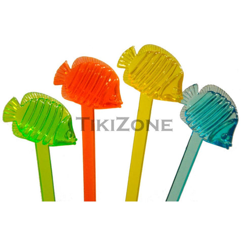 20 Tropical Fish Stirrers - Nautical Cocktail Swizzles