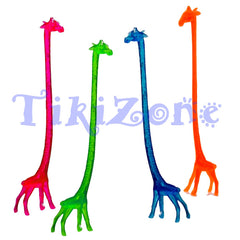 20 Giraffe Safari Cocktail Drink Stirrers