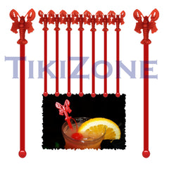Tiki Bar Lobster Cocktail Drink Stirrers / Swizzles