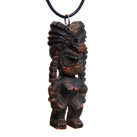 "Hawaiian ""Ku"" Tiki God Necklace"