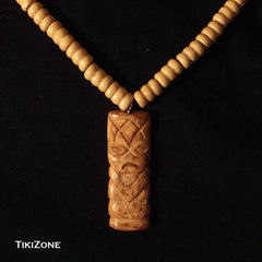 Beaded Necklace with Carved Bone Tiki