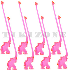 Pink Elephant Cocktail Stirrers - Drink Swizzles