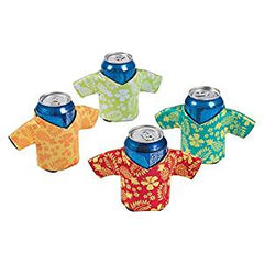 12 Foam Hawaiian Shirt Can / Bottle Koozies