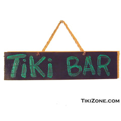 Painted Tiki Bar Tropical Lounge sign