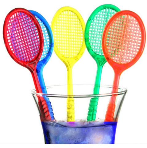 20 Tennis Racquet Cocktail Stirrers - Swizzles