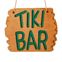 Driftwood Style Tiki Bar Beach Sign