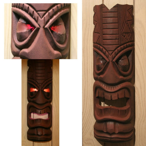 Carved Tiki Mask with Lighted EYES!