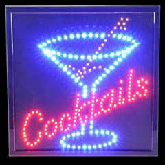 Flashing Cocktail Light Up Lounge Sign
