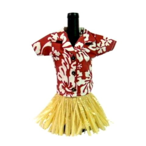 Hibiscus Print Hawaiian shirt Wine Bottle Cover