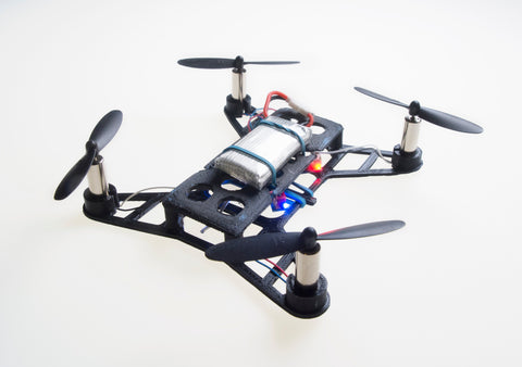 Skolesett/makerspace pakke: 5 mikro dronebyggesett, for laserkutter eller 3d-printer