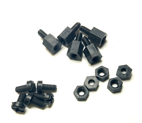 Set of nylon screws and standoff