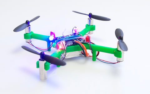 Skolesett/makerspace pakke: 6 Kolibri dronebyggesett, for laserkutter eller 3d-printer