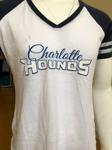 Charlotte Hounds Scroll Women's Baseball T-Shirt