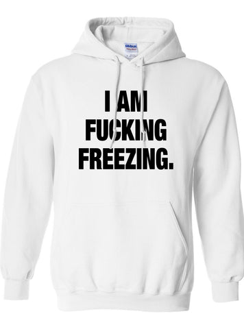 I AM FUCKING FREEZING. HOODIE DT-641h