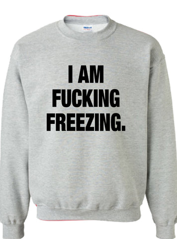 I AM FUCKING FREEZING. Crewneck Sweater Hoodie DT-641s