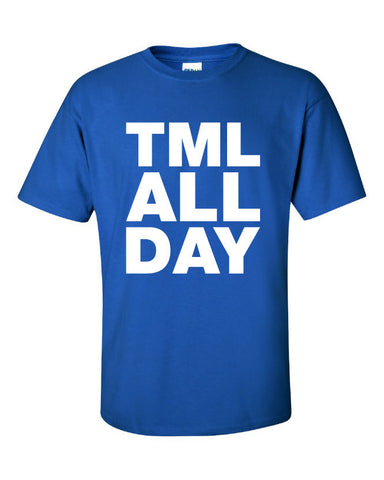 TML All Day graphic Printed T-Shirt Tee Shirt T Mens Ladies Womens Youth Kids Funny Hockey Sports Fan canada Toronto Maple Leafs ML-001