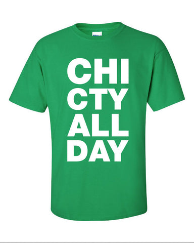 CHI CTY windy city all day kanye west common chicago represent pride Printed graphic T-Shirt Tee Shirt Mens Ladies Womens Youth Kids ML-035