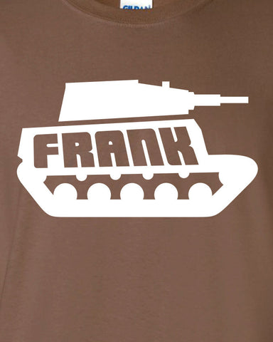 Frank the Tank Funny Drinking will Old School Printed graphic T-Shirt Tee Shirt t Mens Ladies Womens Youth Kids ML-099