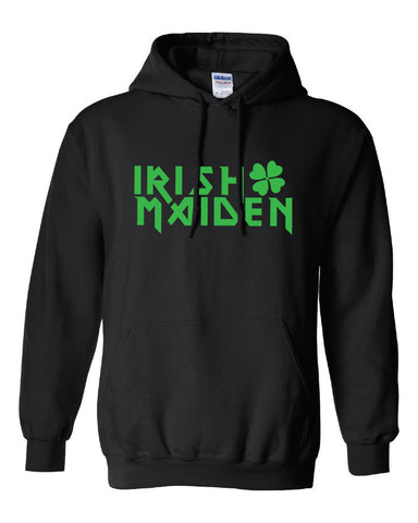 irish maiden kiss me iron or green bar scotland saint st. Patrick's Paddy's ireland hooded sweater hoodie Mens Ladies Womens mad labs ML117H