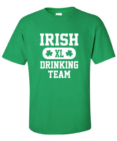 Irish Drinking Team pub crawl bar scotland saint st. Patrick's Paddy's ireland scottish T-Shirt Tee Shirt Mens Ladies Womens mad labs ML-290