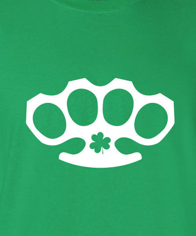 Fight Club Brad Shamrock Knuckle saint st Patrick's Paddy's ireland scottish adult T-Shirt Tee Shirt Mens Ladies Womens mad labs ML-292